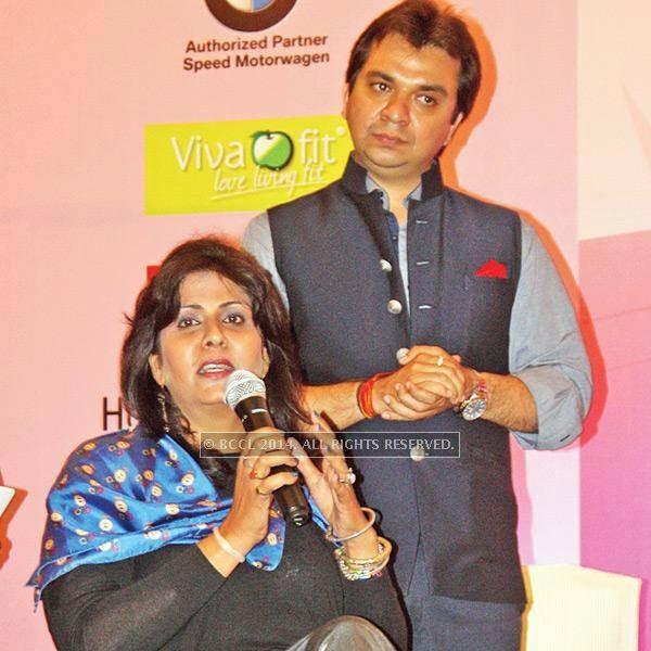 Deepa Malik and Gaurav Prakash during a conference dedicated to women empowerment, organised by CII Yi, on Malala Day, in Lucknow.