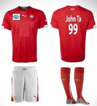 áo bóng đá đội tuyển Thụy Sĩ sân nhà