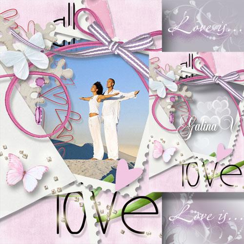 Романтическая рамка - Любовь