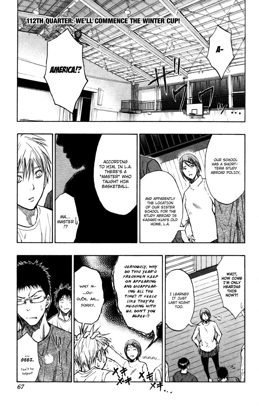 Kuroko no Basket Manga Chapter 112 - Image 01
