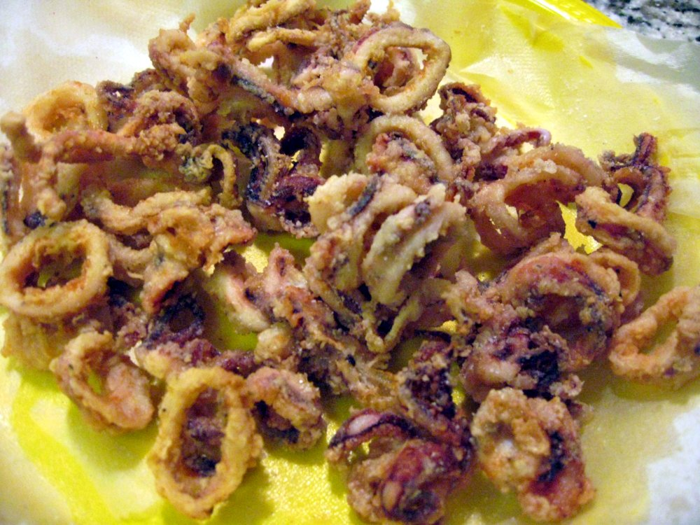 Fried and ready to be consumed - Fried Calamari (Frittura di Calamari)
