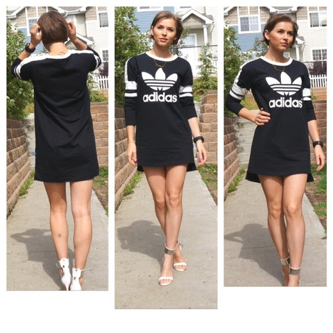 ae70fd40956 Sincerely C: Sweater dress & Heels (Adidas inspired)