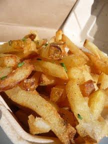 truffle fries from Violetta in Portland