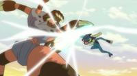 ¡Enfrentamiento ninja! ¡¡Frogadier VS Barbaracle!! Pokémon XY