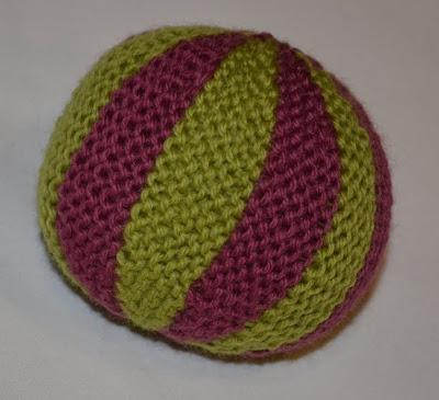 Knit Balls Light Purple and Green