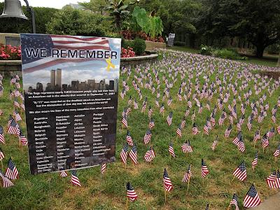 9-11 memorial sign