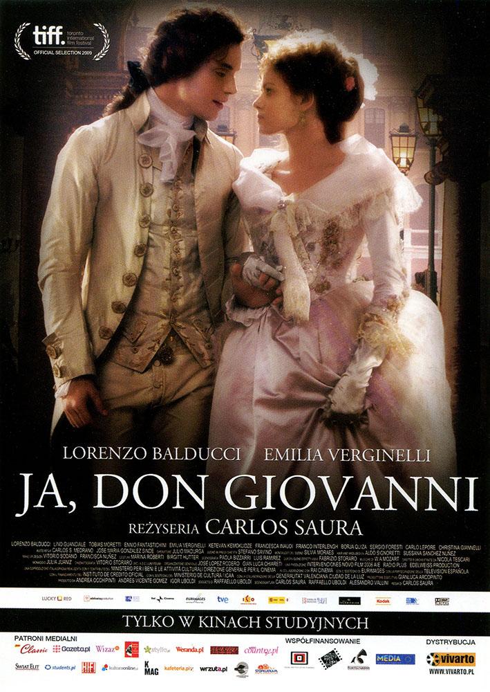 Ulotka filmu 'Ja, Don Giovanni (przód)'
