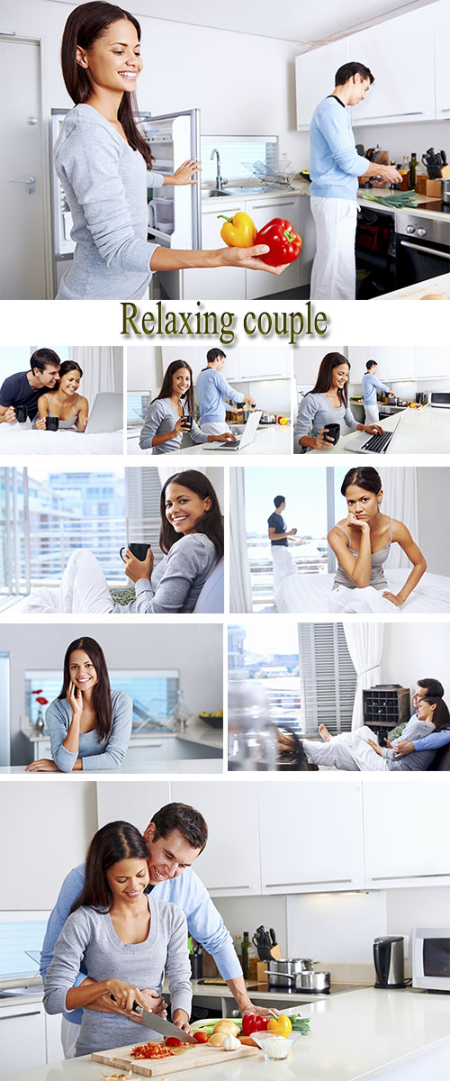 Stock Photo: Relaxing couple