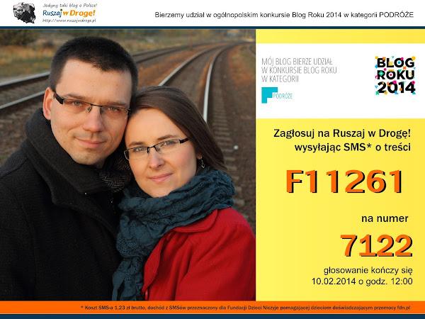 Ruszaj w Drogę w konkursie BLOG ROKU 2014