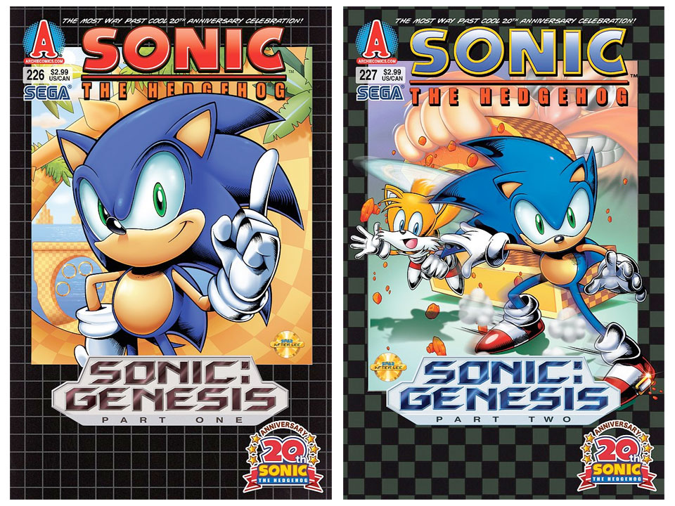 Sega Memories Archie S Sonic 227 Cover Revealed