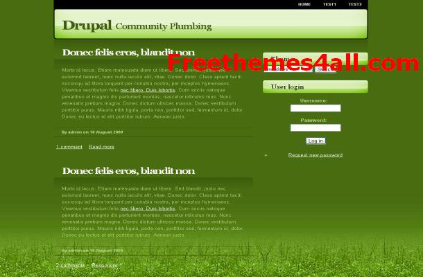 Free Drupal Nature Geeen Theme Template