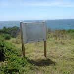 Blank sign on the coastal walk in the Wallarah Pennisula  (388025)