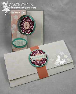 Stampin' Up! - In{k}spire_me #190, Mixed Bunch, Baum der Freundschaft, Sheltering Tree, SAB, Sale-a-Bration, Envelope, Circle Flip Card, DP Zauberhaft, In Worte gefasst, Express Yourself, Umschlag DIN lang, color challenge