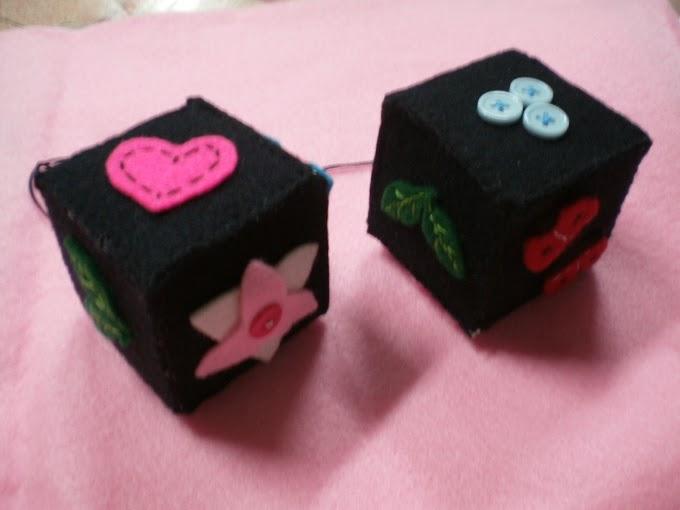 Double Cube Car Charm
