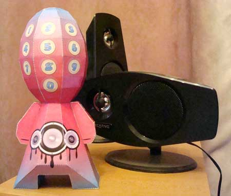 Genetically Altered Paper Toy - Speaker Phone