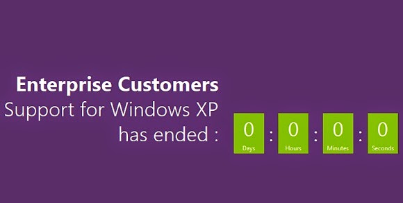 Support for Windows XP for Enterprise Business is ending