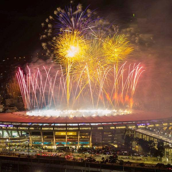 Fireworks are launched over the Maracana Stadium in Rio de Janeiro, Brazil after Germany won the FIFA World Cup 2014 on July 13, 2014.