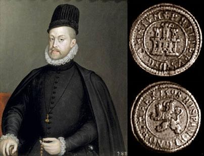 Felipe II - 1 maravedí 1598