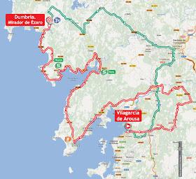 La Vuelta 2012. Etapa 12. Vilagarcía de Arousa – Mirador de Ézaro. @ Unipublic