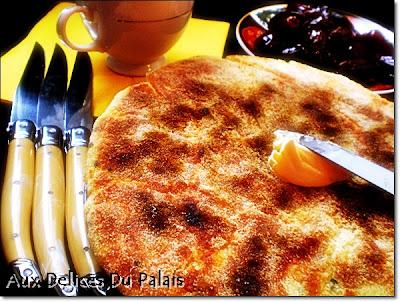 Batbout feuilleté, pain marocain au beurre - recette indexée dans les Divers