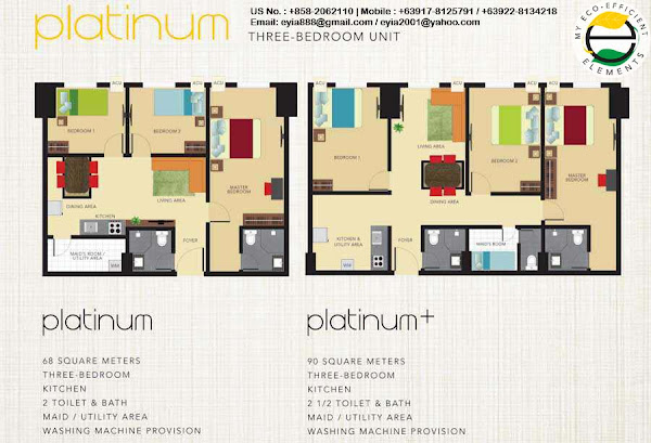 Platinum Three Bedroom Unit