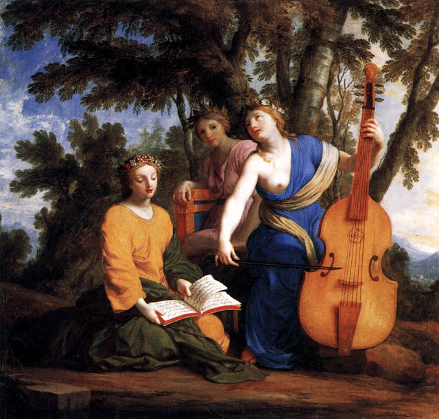 Eustache Le Sueur - The Muses.Melpomene, Erato and Polyhymnia
