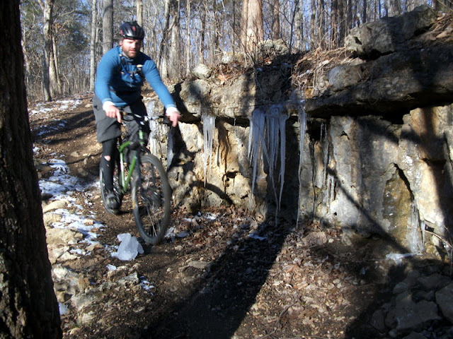 Icicles on the Berryman Trail