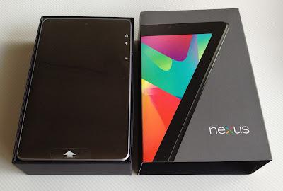 Nexus7のパッケージ