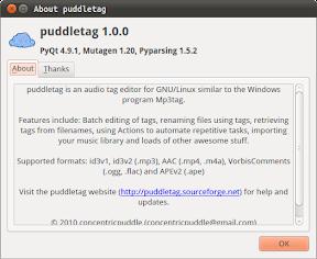 Etiqueta MP3 con Puddletag