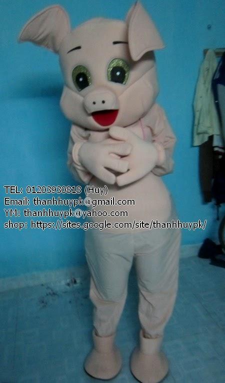 may mascot con lợn, pig mascot