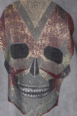 geometric skull print