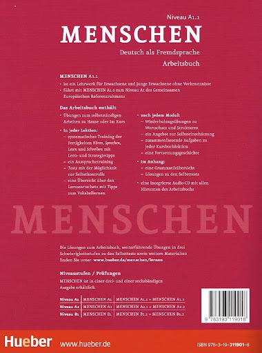 hueber menschen a1 1 arbeitsbuch mit audio cd deutsch als fremdsprache new. Black Bedroom Furniture Sets. Home Design Ideas