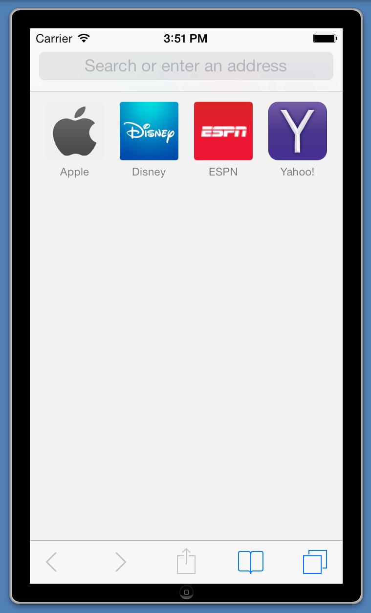 iOSのSafariを開く