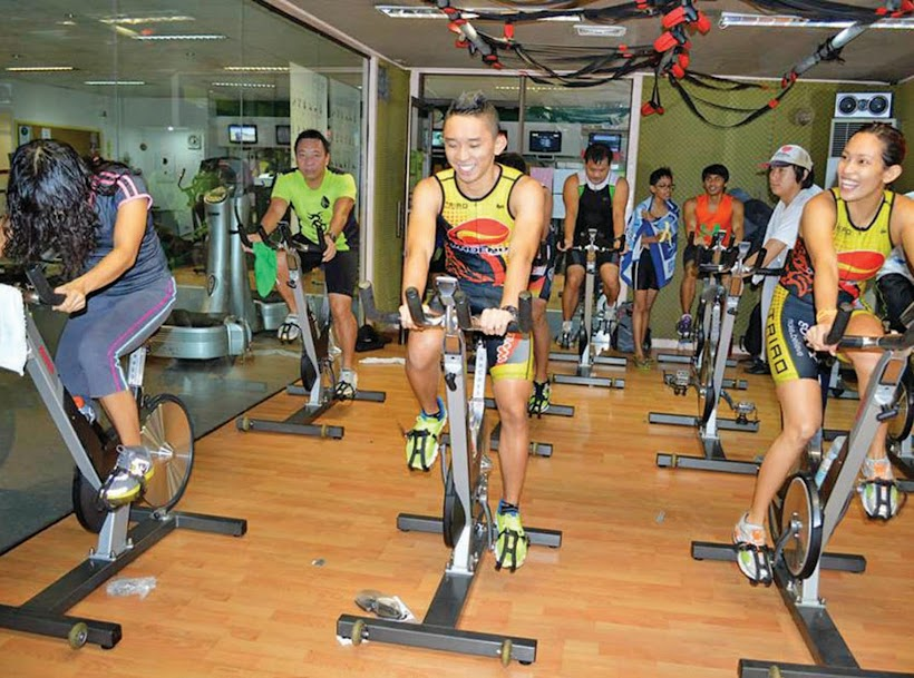 Indoor triathlon at Holiday Gym, Davao city