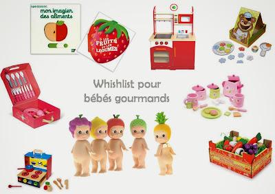 whishlist pour bébés gourmands