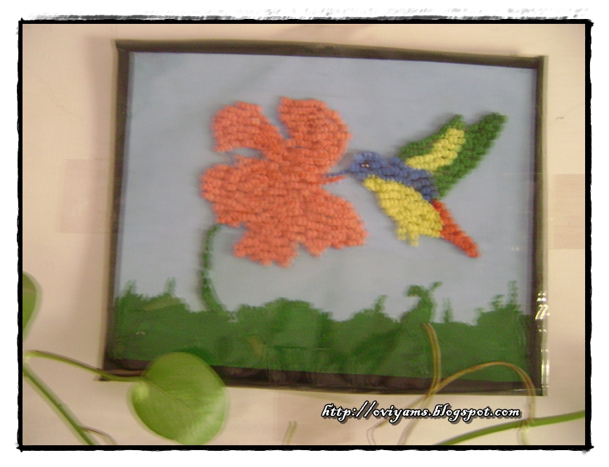 Wall Hanging Painting With Thermocol Balls