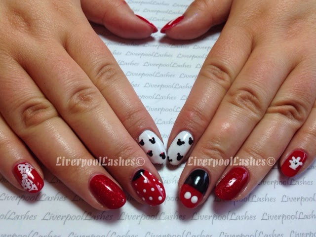 liverpoollashes liverpool lashes nal tutorials pro beauty blogger mickey and minnie nails