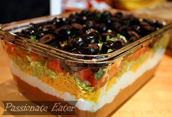 seven layer taco dip classic from a can 7 layer dip seven layer ...