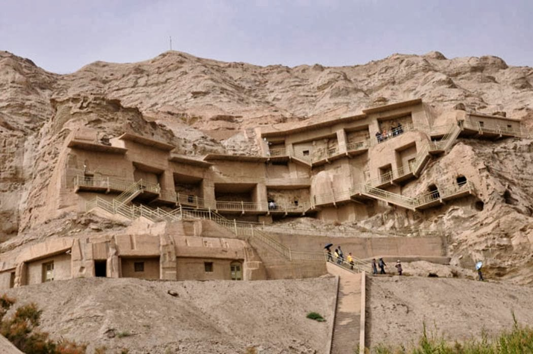 Heritage: Ancient Buddhist caves in China could 'turn to sand'