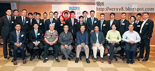 馬恩國(紅圈者)去年成為民建聯司法及法律事務副發言人,進身黨內第二梯隊人物。(《蘋果日報》圖片)