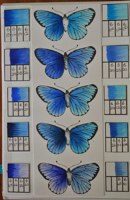 Elizabeth Whisson, Copic Journal, Copic, Our Daily Bread Designs, Butterfly, colour combinations