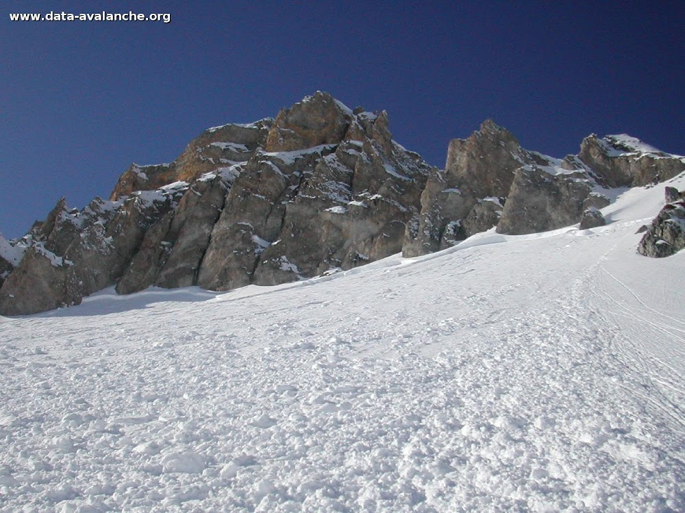 Avalanche Vanoise, secteur Grande Motte, Aiguille percée (pente surplombant le restaurant des chaudannes) - Photo 1