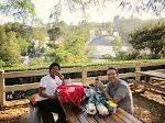 Maj and Larry enjoying the picnicking