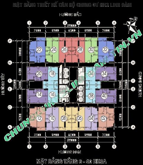 Thiết kế căn hộ hh2 linh đàm