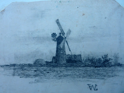 The windmill on Newton Road, which had been demolished by 1900.