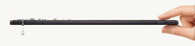Sony Xperia Tablet Z is water-resistant and dust proof
