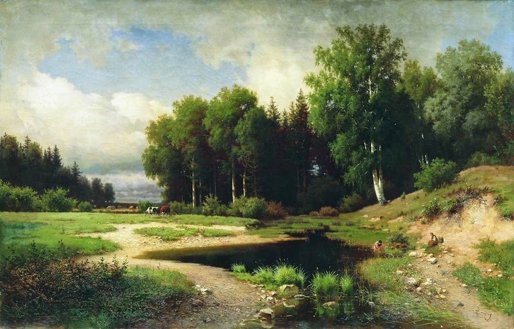 Lev Kamenev - The village Porechye
