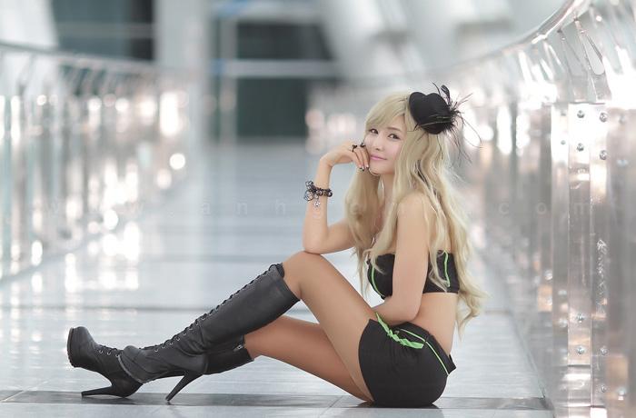 Showgirl G-star 2012: Cha Sun Hwa - Ảnh 28