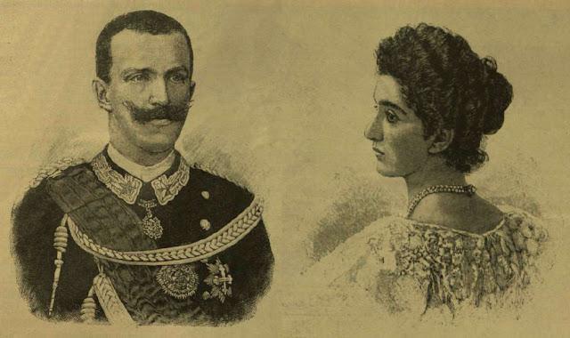 Viktor Emanuel  (1869-1947), az új olasz király és felesége Ilona királyné (1873-1952)
