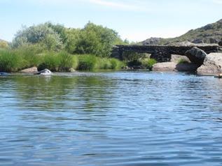 Puente sobre la poza de San Martín